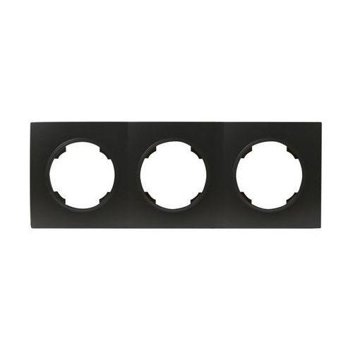Ramka potrójna soul czarny dmp solid marki Efapel