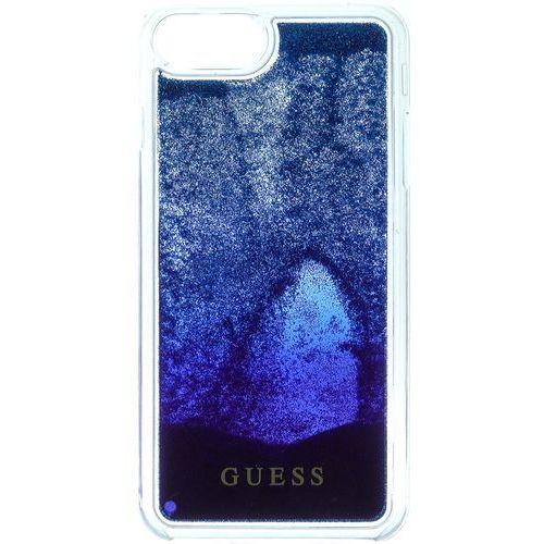 Guess etui Liquid Glitter Hard Apple iPhone 6/6S/7, ciemnoniebieski (3700740398203)