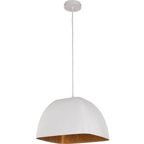 Lampa wisząca Sigma Alwa M biała miedź do jadalni, kolor Biały