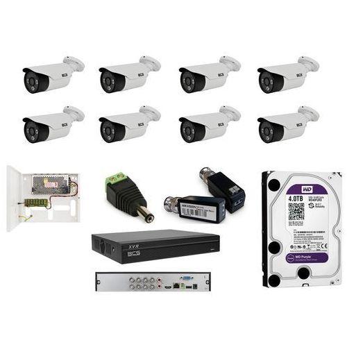 -tqe3200ir3-b analogowy zestaw na 8 kamer tubowych bcs 3,6mm, ir 40m, 2mpx. idealny na dziedziniec do monitoringu ogrodu lub posesji. marki Bcs