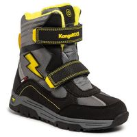 Śniegowce KANGAROOS - Snow Flash Boys Sl Rtx 18387 000 5028 Jet Black/Sun Yellow