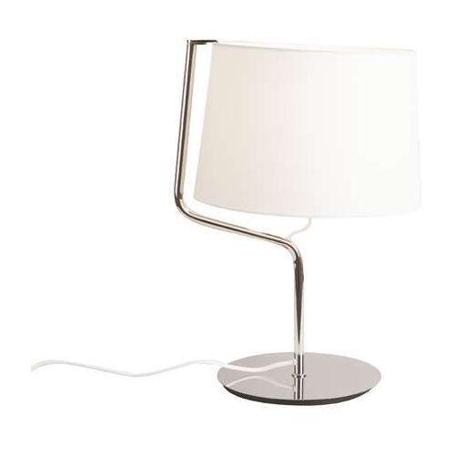 Lampa stołowa lampka chicago 1x100w e27 chrom / biała t0030 marki Maxlight