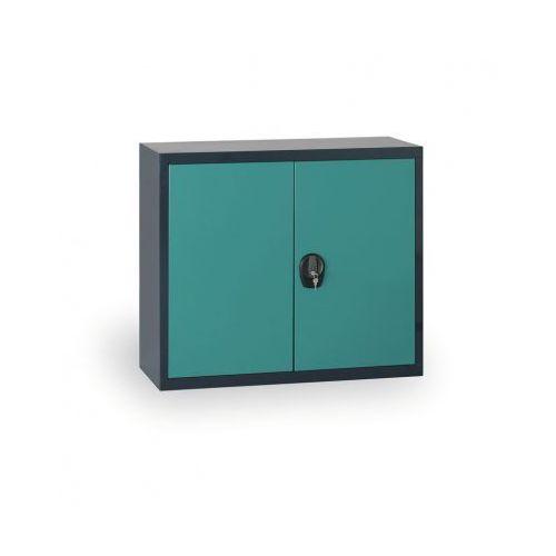 Szafa metalowa, 800 x 1200 x 400 mm, 1 półka, antracyt/zielony