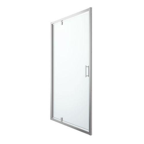 Drzwi prysznicowe wahadłowe Cooke&Lewis Beloya 120 cm chrom/transparentne