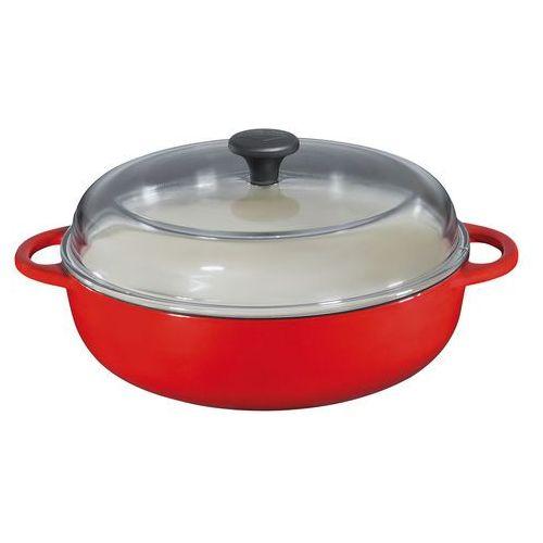 Küchenprofi Wysoka patelnia z pokrywą 28 cm, czerwona, KU-0402551428 (10959222)