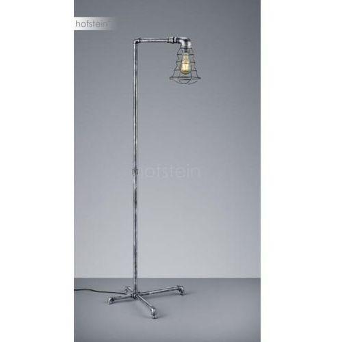 Trio -leuchten gotham lampa stojąca srebrny, ciemnobrązowy, 1-punktowy - vintage - obszar wewnętrzny - gotham - czas dostawy: od 3-6 dni roboczych (4017807356113)