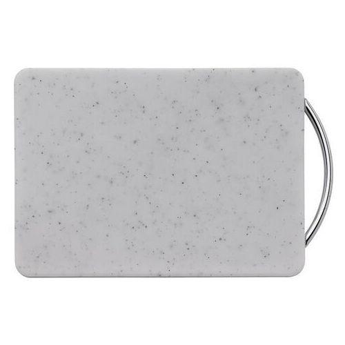 - deska do krojenia z uchwytem, 27,00 cm, biała marki Kuchenprofi