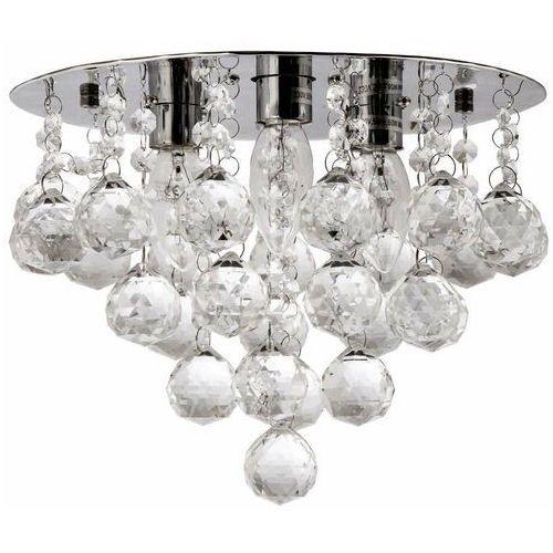 Plafon LAMPA sufitowa VEN P-E 1437/3-30 kryształowa OPRAWA glamour crystal przezroczysta, VEN P-E 1437/3-30