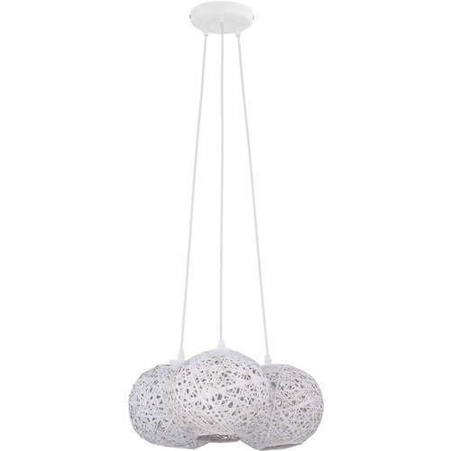 Lampa wisząca zwis oprawa tk lighting backaz white 5x60w e27 biała 1864 marki Tklighting