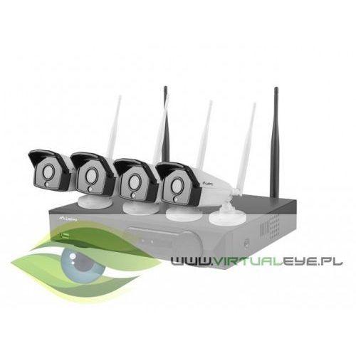 zestaw do monitoringu rejestrator nvr 4 kanałowy wifi + 4 kamery ip wifi 2mpx z akcesoriami marki Lanberg