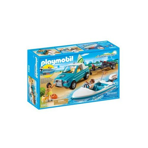 Playmobil SUMMER FUN Pickup z motorówką 6864
