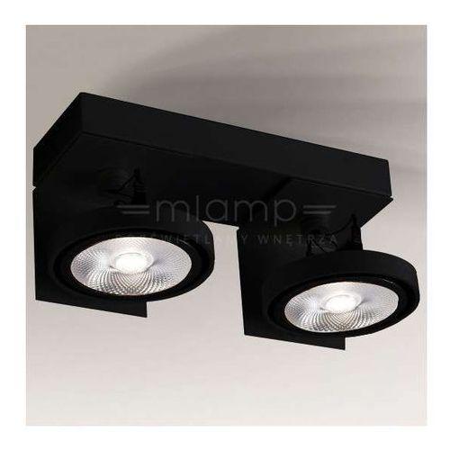Shilo Plafon lampa sufitowa hamada 2228/g53/cz metalowa oprawa regulowana reflektorki czarne