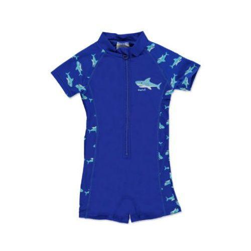 boys jednoczęściowy strój kąpielowy rekin kolor marine marki Playshoes