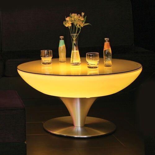 Okrągły stół świecący lounge, wysokość 45 cm marki Moree