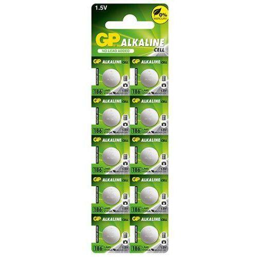 10 x bateria alkaliczna mini GP 186 / G12 / AG12 / L1142 / LR43 / V12GA / RW84 / D186 (4891199015502)
