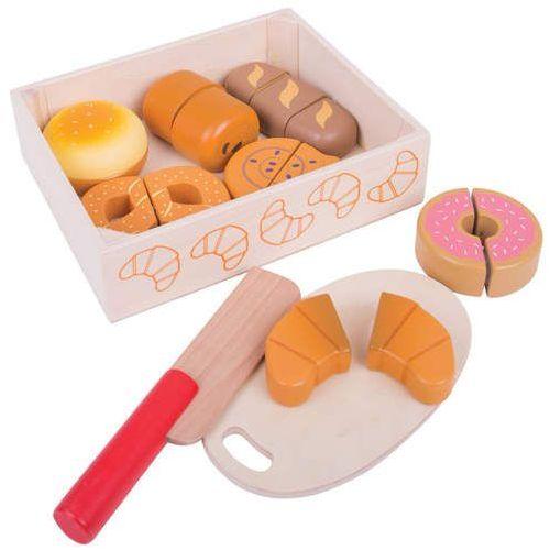 Bigjigs toys Drewniany chleb i ciastka do krojenia do zabawy dla dzieci,, bigjigs