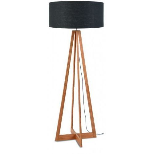 Lampa podłogowa everest bambus 4-nożna 127cm/abażur 60x30cm, lniany ciemnoszary marki It's about romi