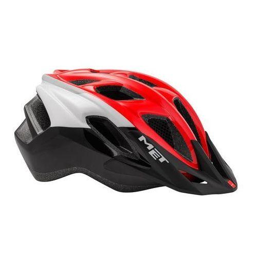 Met funandgo kask rowerowy czerwony/czarny uni / 54-61cm 2018 kaski miejskie i trekkingowe (8015190251301)