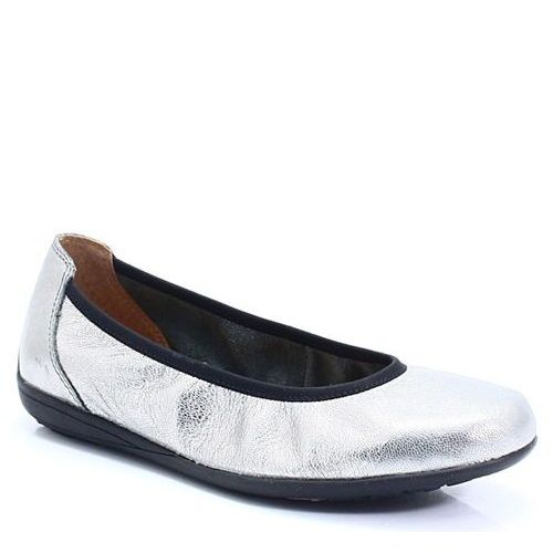 9-22100-21 srebrne - wygodne balerinki, Caprice