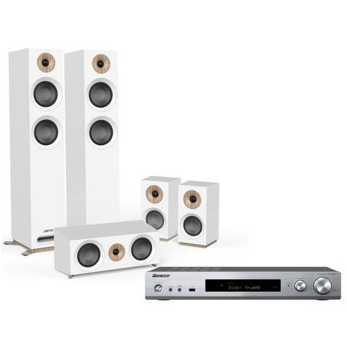 Kino domowe PIONEER VSX-S520-S + JAMO S 807 Biały (2903655786511)