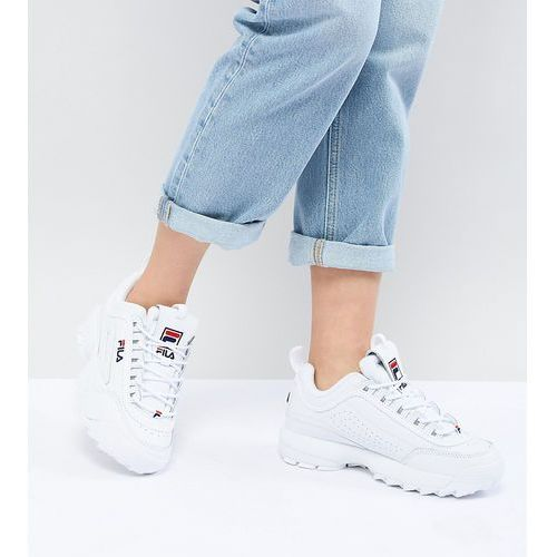 Fila disruptor trainers in white - white