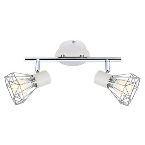 LAMPA sufitowa VERVE 92-61348 Candellux regulowana OPRAWA listwa SPOT druciane reflektorki loft chrom białe (5906714861348)