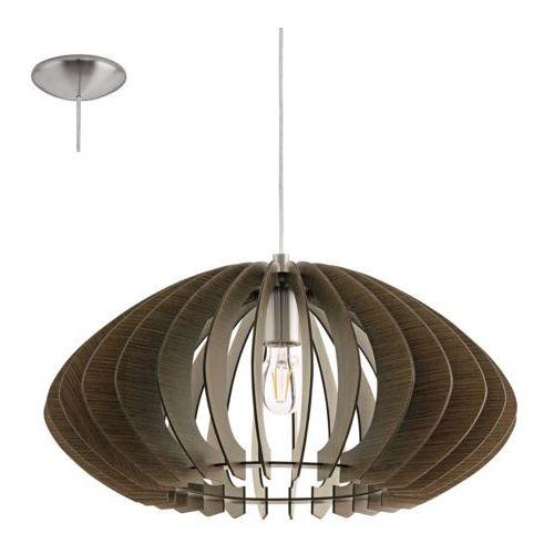 Eglo 95261 - Żyrandol COSSANO 2 1xE27/60W/230V, kolor brązowy