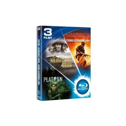 Pakiet: Pluton / Najdłuższy dzień / Cienka czerwona linia (Blu-ray) - Various