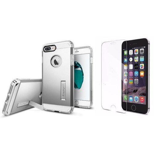 Zestaw | spigen sgp tough armor satin silver | obudowa + szkło ochronne perfect glass dla modelu apple iphone 7 plus marki Sgp - spigen / perfect glass