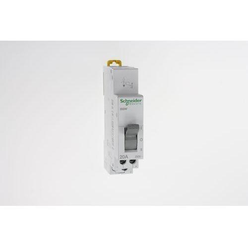 Przełącznik źródeł zasilania iSSW 3 pozycyjny I-0-II 1P 20A 250V A9E18073 Schneider Electric