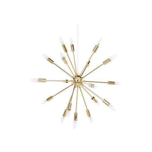 Beliani Lampa wisząca 18-punktowa metalowa złota maguse