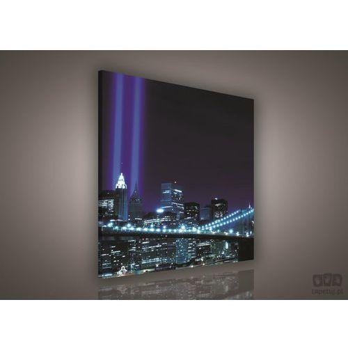 Obraz nowy jork niebieskie światła miasta pp179o2 marki Consalnet