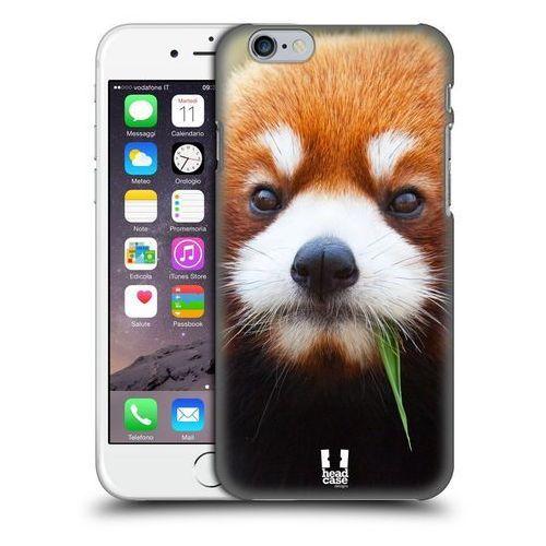 Etui plastikowe na telefon - Dzikie Zwierzęta Panda Czerwona
