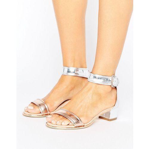 Ted baker  ruz metallic mid heeled sandals - silver
