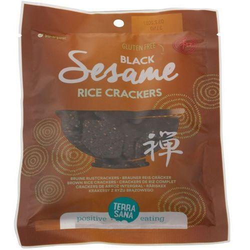 Krakersy z ryżu brązowego z czarnym sezamem bio 60 g - marki Terrasana