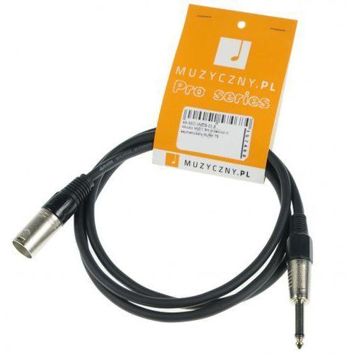 mic 1,5m przewód niesymetryczny xlrm ts marki 4audio