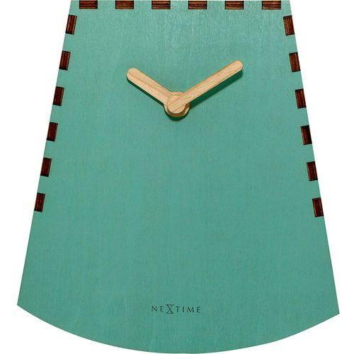 Bujający zegar stojący Rocky Nextime turkusowy (5207 TQ), kolor niebieski