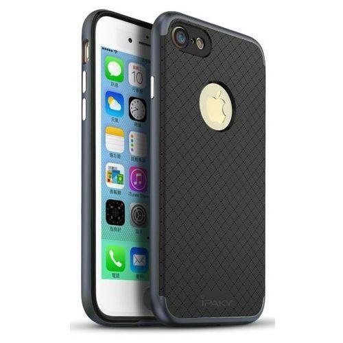 Etui iPaky Premium Hybrid iPhone 8 Plus/7 Plus Grey + Szkło (5903068630767)
