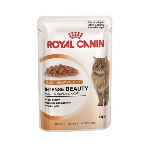 40 + 8 gratis! Royal Canin mokra karma dla kota w sosie - Intense Beauty w galarecie