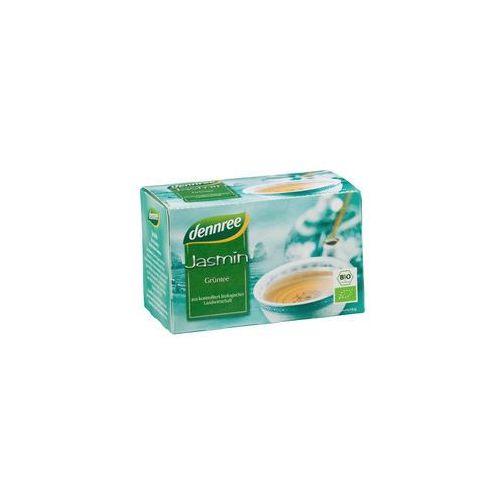 Dennree (dżemy, miody, herbaty) Herbata zielona jaśminowa ekspresowa bio 20 x 1,5 g - dennree