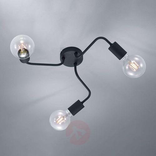 Trio Leuchten DIALLO Lampa Sufitowa Czarny, 3-punktowe - Nowoczesny - Obszar wewnętrzny - DIALLO - Czas dostawy: od 6-10 dni roboczych (4017807412604)