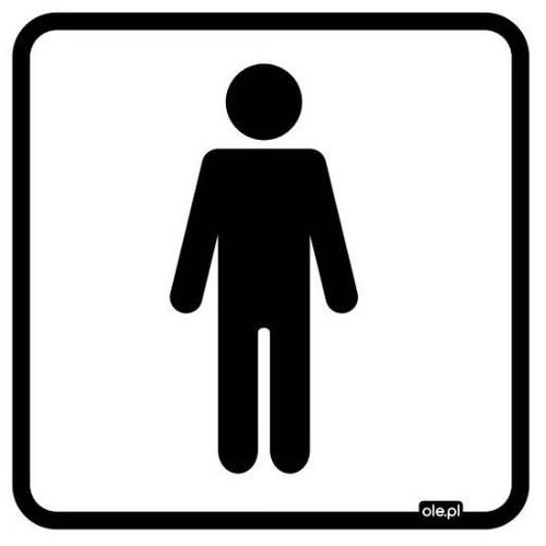 Naklejka informacyjna oznaczenie toalety WC męskie, RWCM