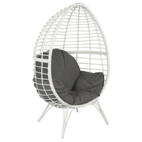 Pure garden & living Fotel technoratan kosz ogrodowy biały dobrebaseny (8718158359742)