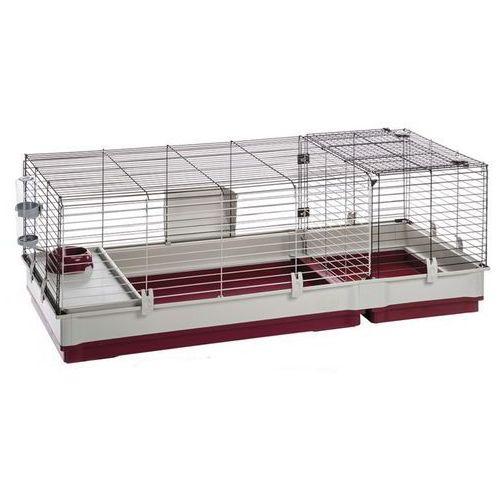 OKAZJA - Ferplast krolik 140 składana klatka dla świnki, królika z wyposażeniem