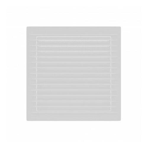 Kratka wentylacyjna skośna z siatką 14x14 biała AirRoxy 0914