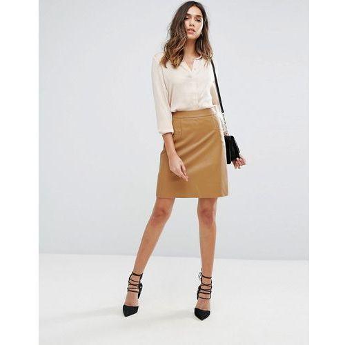 bastra faux leather skirt - brown marki Boss orange