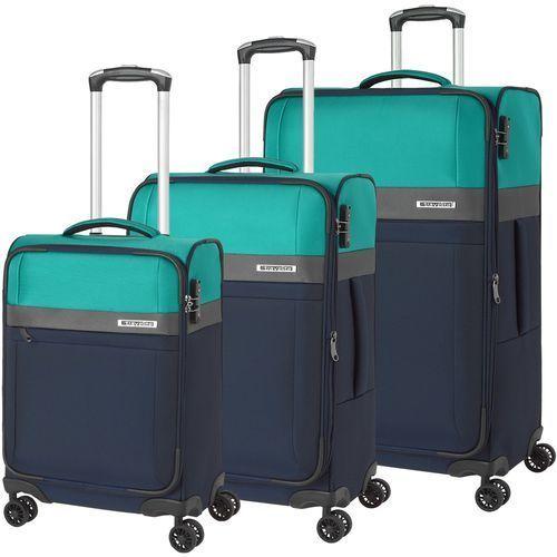 Travelite stream zestaw walizek / komplet / walizki na 4 kółkach / granatowy - granatowy
