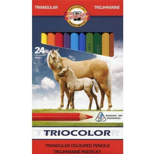 Kredki triocolor 24 kolorów 3144 marki Koh-i-noor