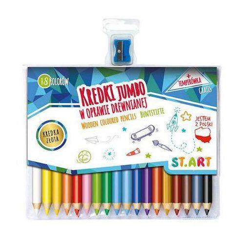 Kredki ołówkowe Start Jumbo 18kol. + temperówka x1