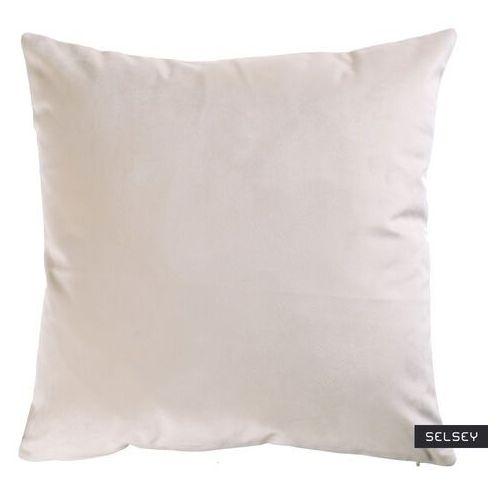 SELSEY Poduszka dekoracyjna Sylvanca w tkaninie EASY CLEAN 45x45 cm kremowa bez kedry (5903025413280)